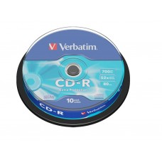 CD-R Verbatim 700MB 52X 80min 10T